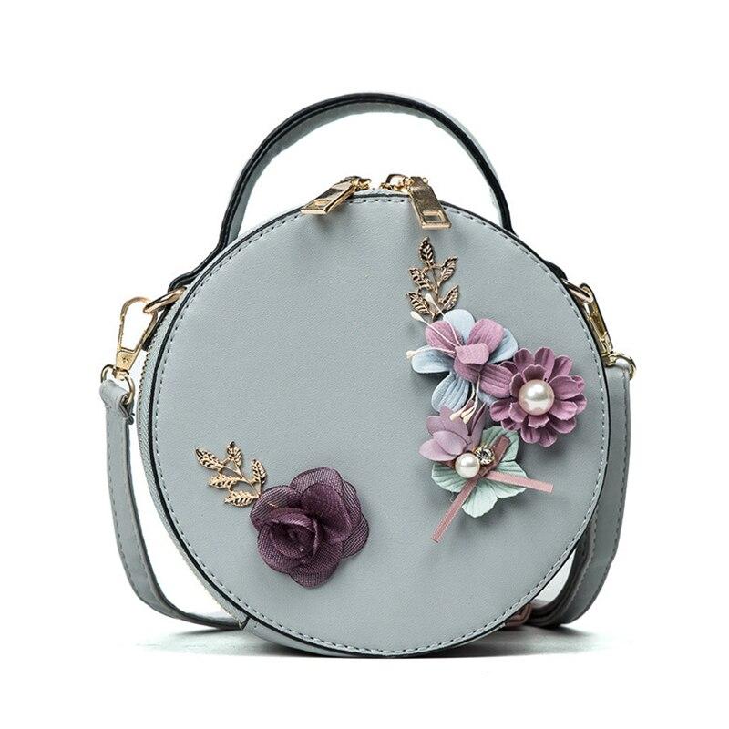 2019 nouvelles femmes Mini fleurs brodées sac rond sac Messenger conçu sac à bandoulière pochette pour femmes sac à main bolso mujer sac à main