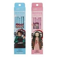 No-Yaiba Stationery Pencils Gift Demon Slayer Anime Hexagon Kimetsu Writing Students