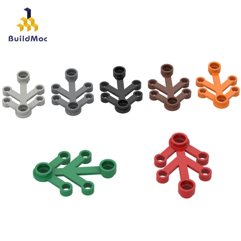 BuildMOC Compatible Assembles Particles 2423 4x3 Plant Foliage Building Blocks Parts DIY Educational Gift Toys