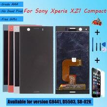 สำหรับSony Xperia XZ1ขนาดกะทัดรัดG8441 D5503 SO 02K LCDหน้าจอTouch Glass,ซ่อมชิ้นส่วนจอแสดงผลLCDสีดำสีฟ้าเงิน
