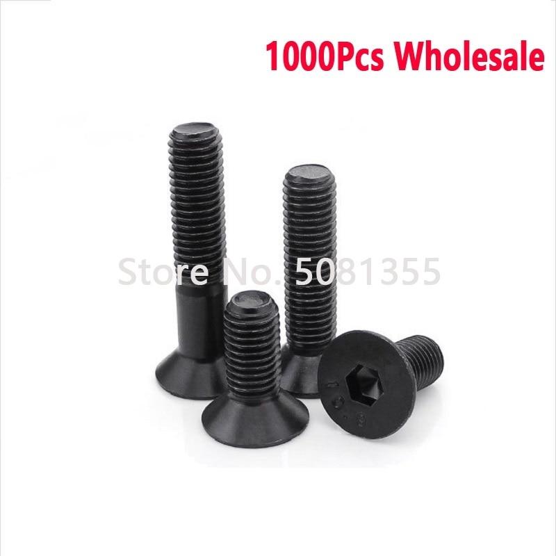 1000 Uds DIN7991 grado 10,9 M2 M2.5 M3 * L = 3 - 20mm hexagonal plana máquina de cabeza avellanada tornillo al por mayor