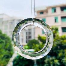 2 шт 50 мм прозрачное кольцо круглые кристаллы подвески стеклянная