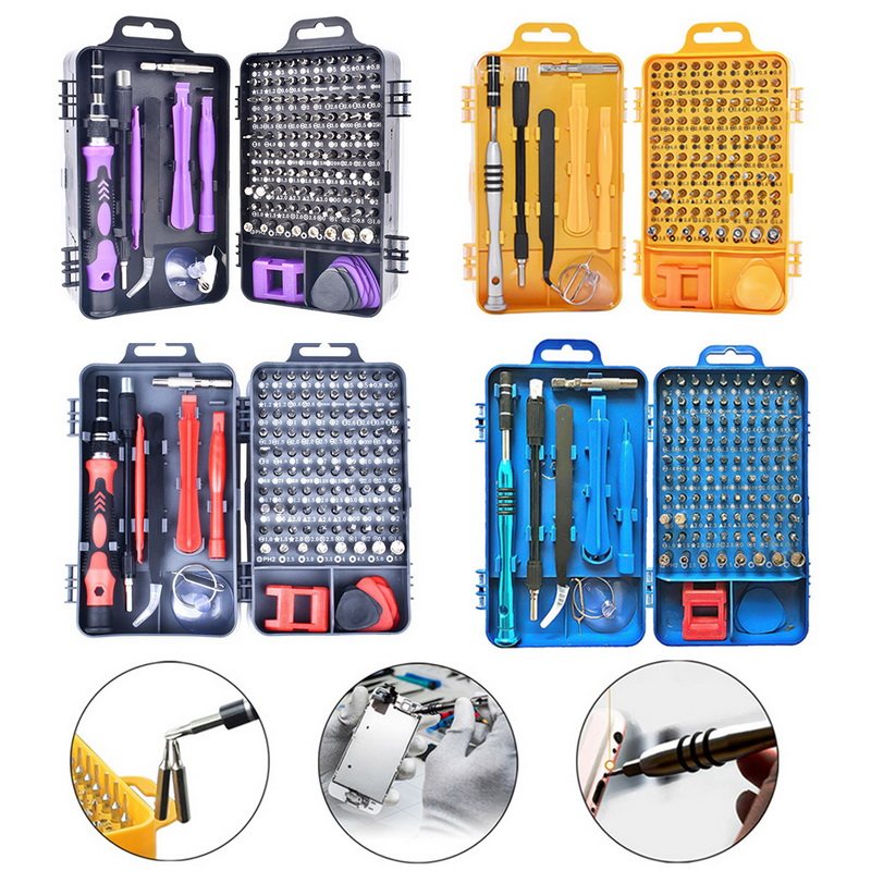 115 In 1 Screwdriver Kit Precision Screwdriver Set Multifunctional Opening Repair Tools  Carry Case For Laptops Phone