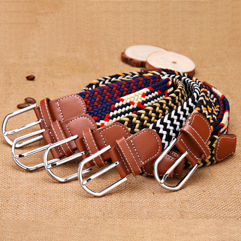 Ultimate SaleFashion Jeans Belts Knitted-Pin Stretch Woven Elastic Canvas Casual One-Size Webbing