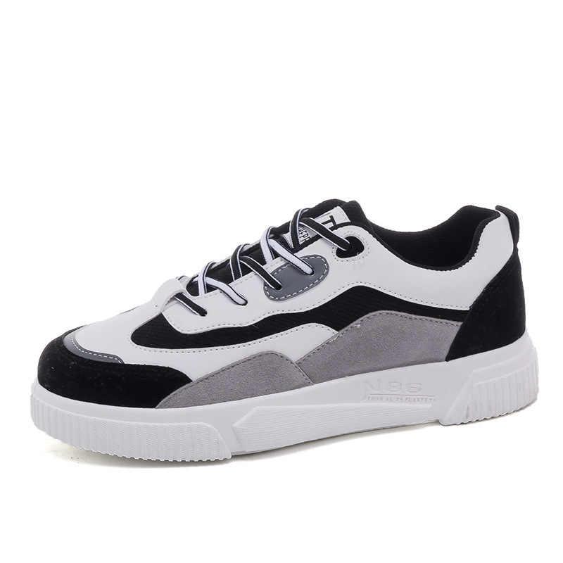 Zapatillas de deporte vulcanizadas para mujer, zapatos Unisex de talla grande 35-44, zapatos deportivos de colores mezclados, zapatos escolares para niñas, zapatillas deportivas con brillo para mujer 2020