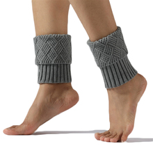 Boot-Cover Leg-Warmers Winter Women's Wool Solid Knitted Elastic