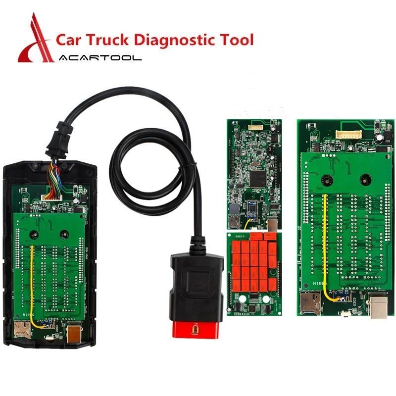 Universal OBD Car Diagnostic Tool OBD2 Scanner Truck Diagnostic NEC Relays Multi-language Code Reader Scan Tool Green/Blue PCB(China)
