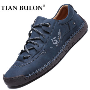 Men Sneakers Fashion Men Casual Shoes Leather Handmade Breathable Man Shoes Luxury Brand Mens Loafers Moccasins Adult Footwear