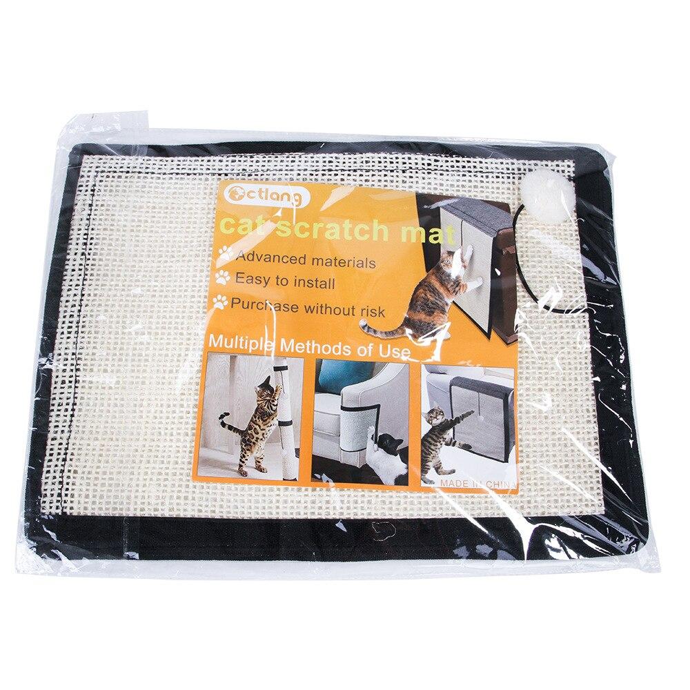 Professional 1Pc Natural Sisal Hemp Cat Scratch Board Mat Scratching Post Toy Kitten Furniture Pad Sofa Protector 3
