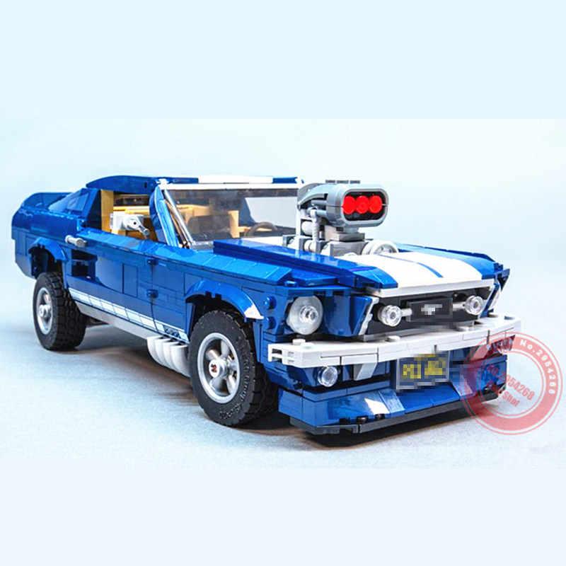Nouveau GT500 1967 Ford Mustang Technic moteur puissance fonctions Fit Legoings Technic modèle blocs de construction briques jouet enfant cadeau