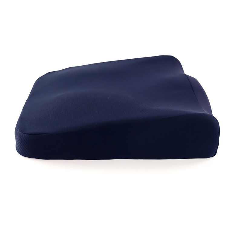 尾骨枕通気性鳥の目の布ソフト快適なスローリバウンドメモリ泡の車オフィスノンスリップ快適な椅子クッション