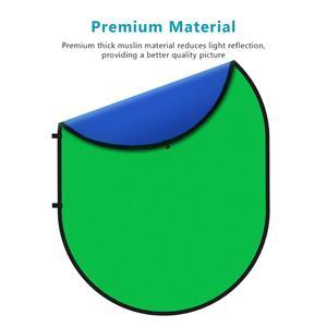 Image 3 - Neewer 2 в 1 зеленый хромакей фотографии с оформлением в виде синий складной фон складной двусторонний фон 5x7 футов/1,5x2 м \