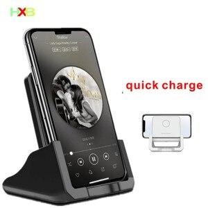 Image 1 - Bezprzewodowa podstawka ładująca Qi USB telefon komórkowy bezprzewodowa ładowarka do Samsung S10 S9 S8 Note10 Xiaomi mi 9 10 iphone 12 11 X XS XR 8