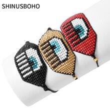 Зло браслет глаз Миюки бусины Шарм браслеты ткацкий станок ручной работы из бисера женщины ювелирные изделия браслеты браслеты мода 2020