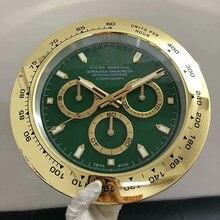 Luxus Metall Uhr Form Wanduhr mit Kalender mit Datum Wand Uhren Slient Sweep Uhr