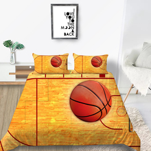 Basketball Court Bedding Set Sport 3D Fashionable
