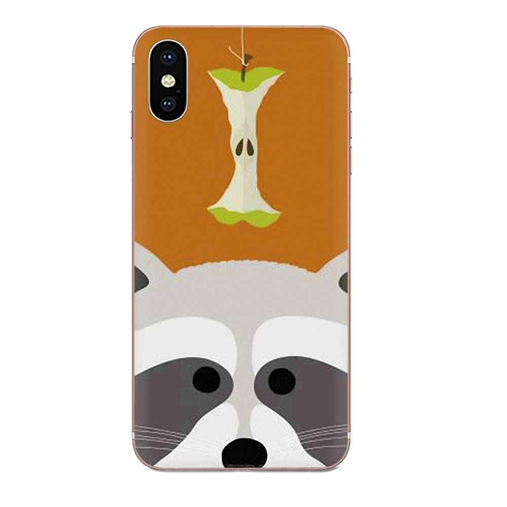 Animal Raccoon Art TPU Printing For Xiaomi Mi3 Mi4 Mi4C Mi4i Mi5 Mi 5S 5X 6 6X 8 SE Pro Lite A1 Max Mix 2 Note 3 4