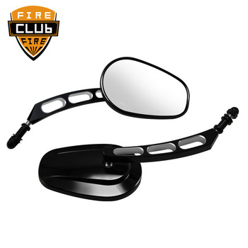 Motorcycle Rearview Rear View Mirrors Glass Back Side Mirror Right Left For Harley 883 1200 48 motorcycle left right side rear view mirror for harley suzuki kawasaki honda black chrome motorcycle accessories
