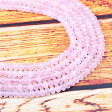 Pink Crystal Natural Gem 4X6/5X8MM Abacus Bead Spacer Bead Wheel Bead Accessory For Jewelry Making Diy Bracelet Necklace