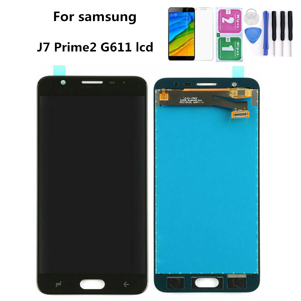 LCD For <font><b>Samsung</b></font> <font><b>Galaxy</b></font> <font><b>J7</b></font> Prime2 <font><b>2018</b></font> SM-G611 G611F G611 <font><b>Display</b></font> Touch Screen Digitizer Assembly With Tools Tempered Glass Film image