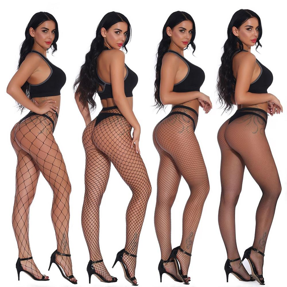 Hollow Out Sexy Pantyhose Female Black Mesh Stockings Jeans Stretch Bottoming Stocking Fishnet Stockings Tights High Quality