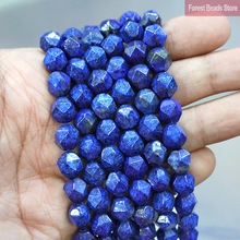 Lazuli Natural-Stone-Spacers Loose-Beads Faceted Necklace Charms Diy Bracelet Jewelry Making