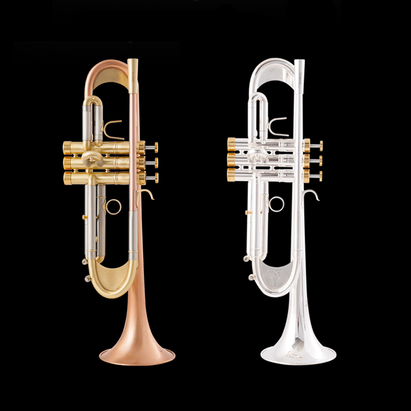 New Arrival Bb Trumpet High Quality Gold Lacquer Silver Plated Trumpet Brass Musical Instruments Composite Type Trumpet