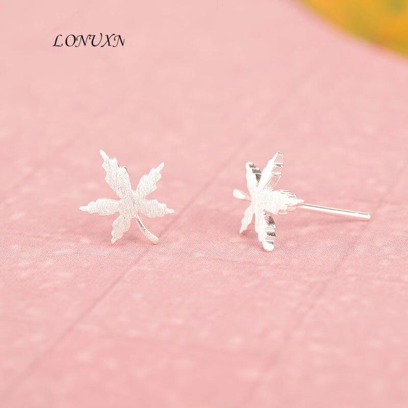 Haute qualité mode coréenne sauvage feuille d'érable 925 argent boucle d'oreille pour les femmes filles meilleur anniversaire cadeau fête accessoires bijoux