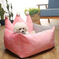 Removable pet bed comfortable dog sofa cat litter easy to clean dog house kennel princess pet sleeping pad puppy Teddy basket