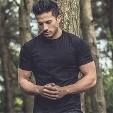Mans T-shirt Brand Gym Shirt Sport T Men Short Sleeve Running Tshirt Workout Training Tees Fitness muscle shirt