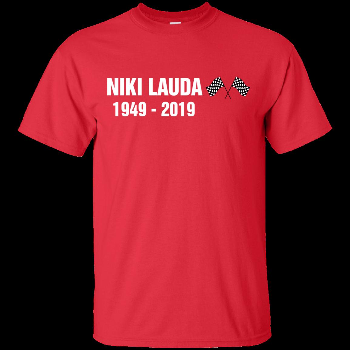 Футболка NIKI LAUDA PILOT гоночная Красная футболка Размер M-3XL