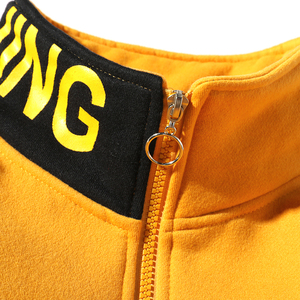 Image 5 - Sudadera de Una Reta para hombre, jersey de Color Hip Hop, jersey de vellón con retales para hombre, tops Harajuku, ropa informal