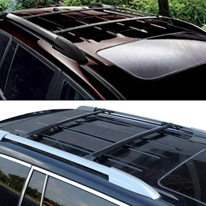 4Pcs Roof Rack Cover Roof Rail End Cover Housing Replacement for Toyota Highlander 2008 - 2013 image