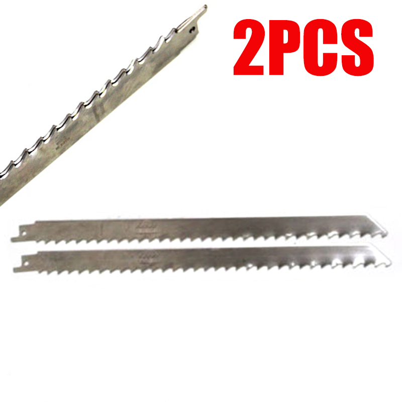 2x S1211K For Frozen Meat Bone Ice Cutting Stainless Steel 300mm Reciprocating Saw Blade Cutter New Sharp Durable Splitter