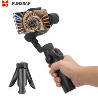 FUNSNAP Capture2 3 Axis Handheld Anti shake Gimbal Stabilizer For Samsung for iphone X XR 8 7 for Gopro Camera Handheld Gimbals