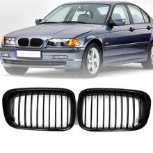Новая пара, глянец, черный, автомобильный передний почечный гриль, решетки для BMW E46, 3 серии, 4 двери, седан, 1998, 1999, 2000, 2001