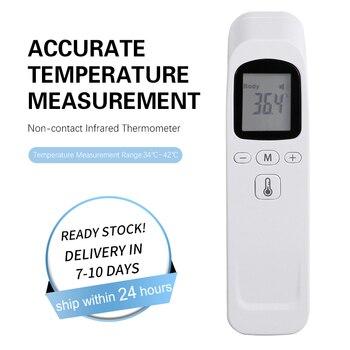 Dijital termometre kızılötesi bebek yetişkin alın temassız kızılötesi termometre LCD arka ile en çok satan