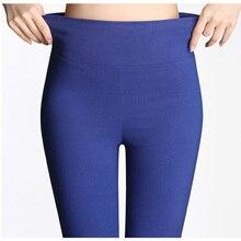 S 6XL15 Цвет s, новые зимние женские брюки размера плюс, Модные Узкие эластичные брюки ярких цветов с высокой талией, женские узкие брюки