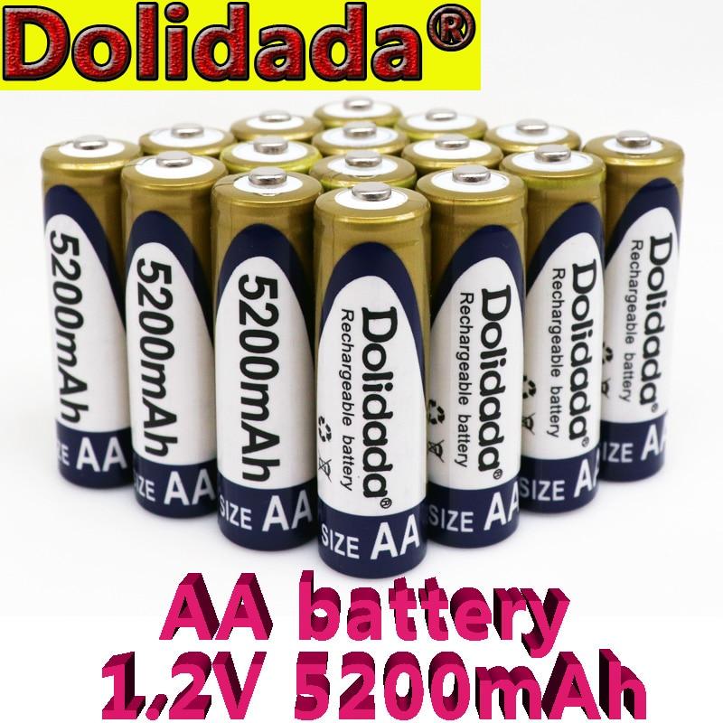 Новинка 2021, 100% Оригинальная Аккумуляторная батарея AA 1,2 в, 5200 мА/ч, никель-металлогидридная аккумуляторная батарея aa для игрушек, микрофона к...