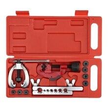 Cuivre frein tuyau de carburant réparation Double torchage matrices ensemble doutils pince Kit coupe Tube