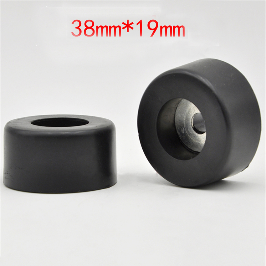 4Pcs/Lot 38*19mm Durable Black Isolation Rubber Table Chair Feet Pad Base, Anti-vibration Pad For Amplifier Speaker CD Cabinet