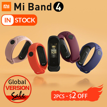 Xiaomi Mi Band 4 Smart Watch Heart Rate Fitness Tracker Bracelet 3 Color AMOLED Screen Miband 4 Smart Band Bluetooth Waterproof