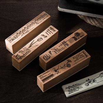 Muzyka kolaż roślin notatki znaczek DIY drewniane i gumowe stemple do scrapbookingu papiernicze scrapbooking standardowy znaczek tanie i dobre opinie CN (pochodzenie) GS22YZ219
