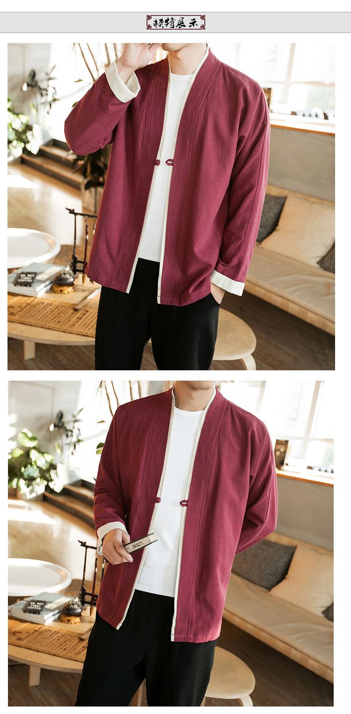 Sinicism Store Men Patchwork Shirt Streetwear Short Sleeve 19 Summer Harajuku Vintage Kimono Shirts Black Fashion Open Stitch 8