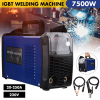Professional 9.5KVA DC Inverter ARC Welder 220V IGBT MMA Welding Machine 200/250 Amp for Home Beginner Lightweight Efficient
