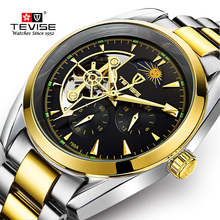 Tevise Men's Automatic Mechanical Skeleton Tourbillon Watches Wrist Watch Top Brand Luxury Men Steel Sprots Watch Reloj Hombre все цены