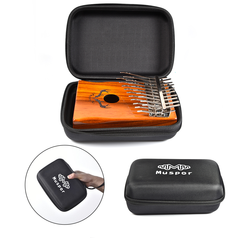 Portable 10/15/17/20 Key Kalimba Case Waterproof Thumb Piano Mbira Bag Waterproof With Foam Pad