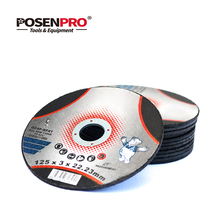 POSENPRO 125mm/5-Inch Grinding Wheel Fiber Reinforced Resin Cutting Disc Stainless Steel Metal Cutting Angle Grinder Tools
