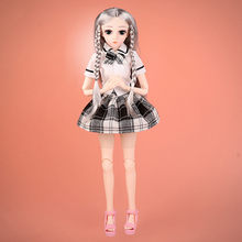 DIY Change Fashion Girl Joints Doll Simulation 3D Doll Cuddle Gift Soft Body For Girl Toy Wig Hair Makeup Best Gift for Girls(China)