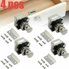 4 Pcs Motorhome Car Push Lock RV Caravan Boat Motor Home Cabinet Drawer Latch Knob Locks for Furniture Hardware